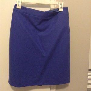 J. Crew blue wool pencil skirt s 2